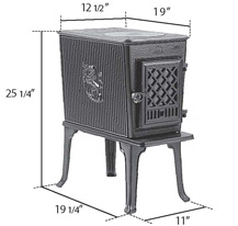 Tiny wood stove: Jotul F602CB