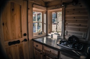 Frank, a traveling carpenter, built his own tiny home.