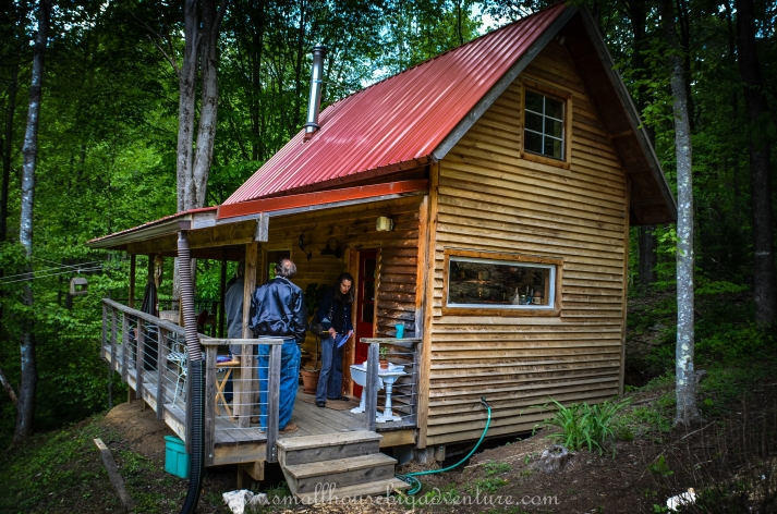 Christy & Ricardo's tiny house on a foundation