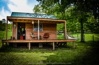 Kat Johnson's tiny house at Riverstone Organic Farm